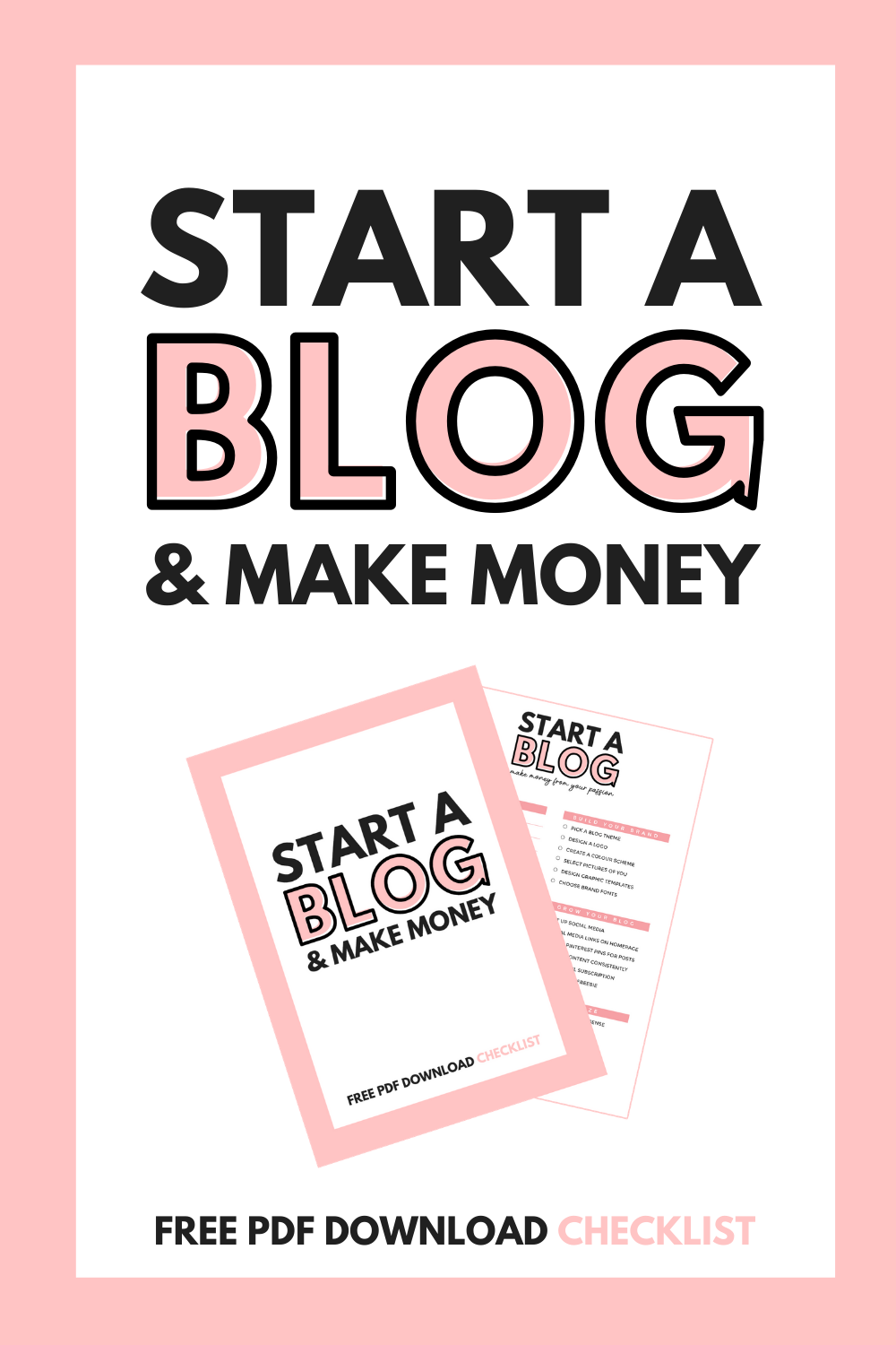 START A BLOG & MAKE MONEY _ FREE PDF DOWNLOAD _ CHECKLIST