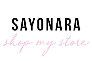 hayleyxmartin - online store - SAYONARA - shopsayonara.com