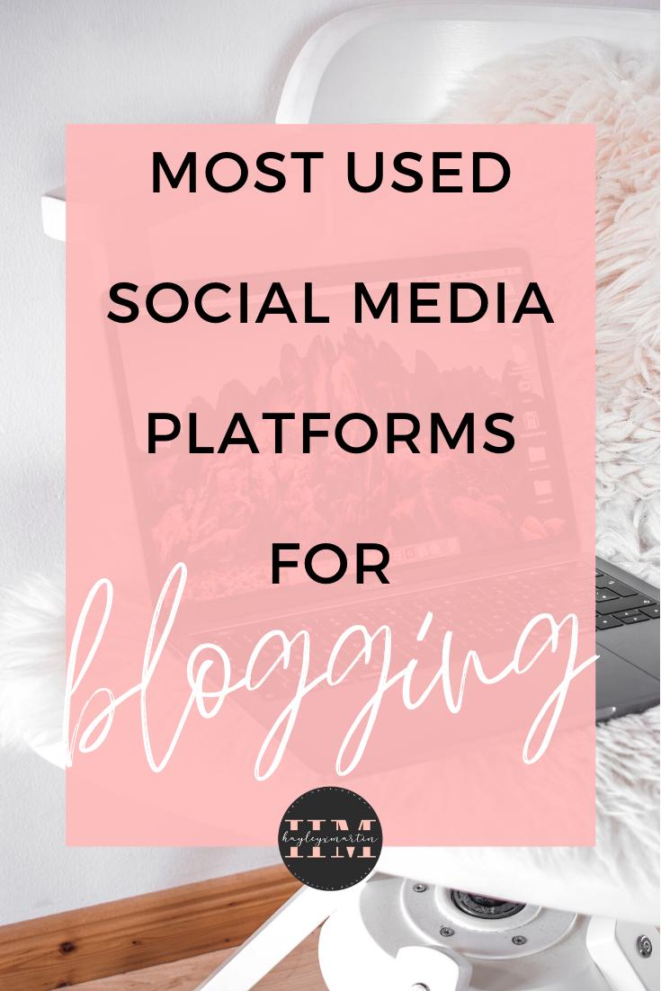 MOST USED SOCIAL MEDIA PLATFORMS FOR BLOGGING