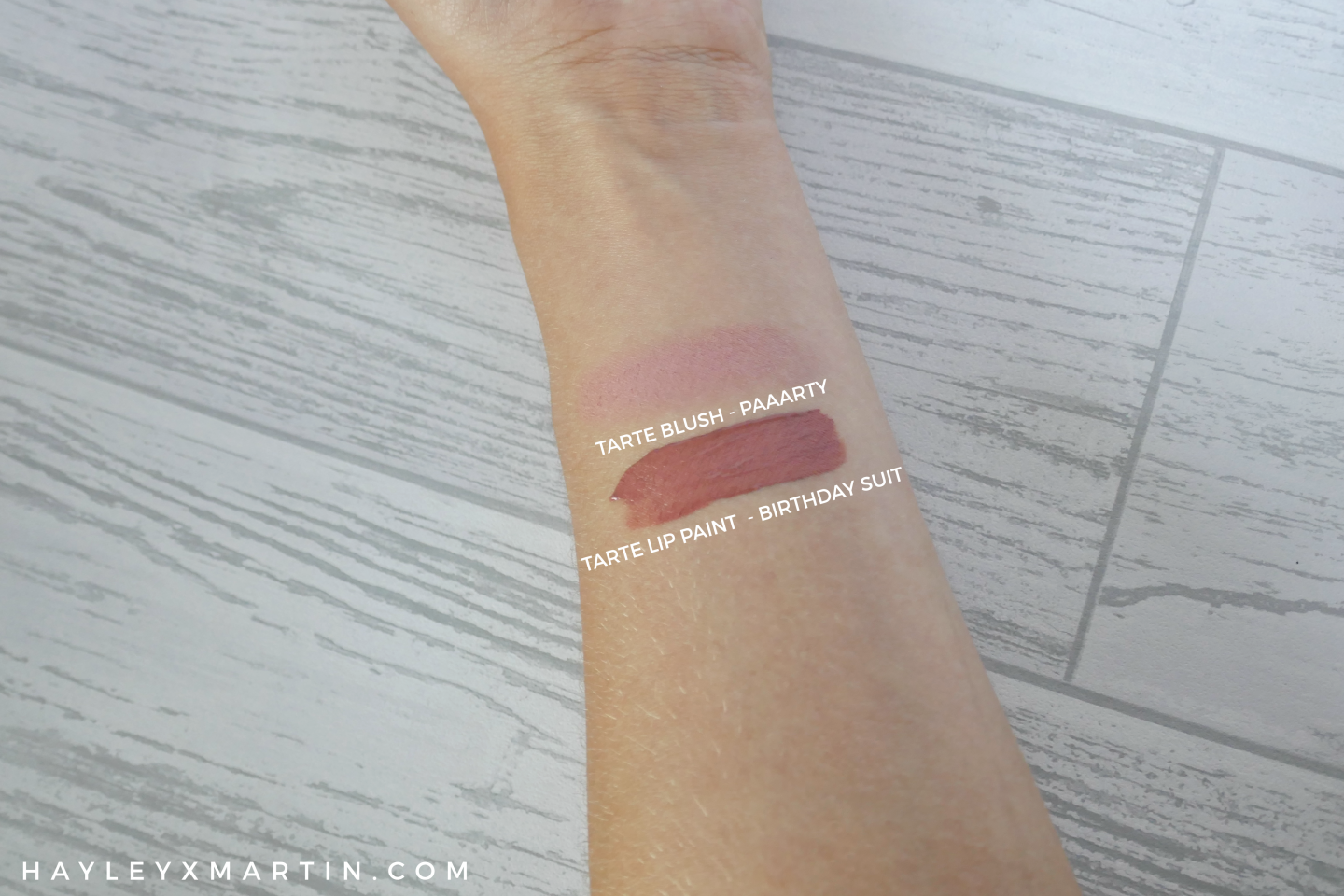 HAYLEYXMARTIN - TARTE LIP PAINT BIRTHDAY SUIT - BLUSH PAAARTY