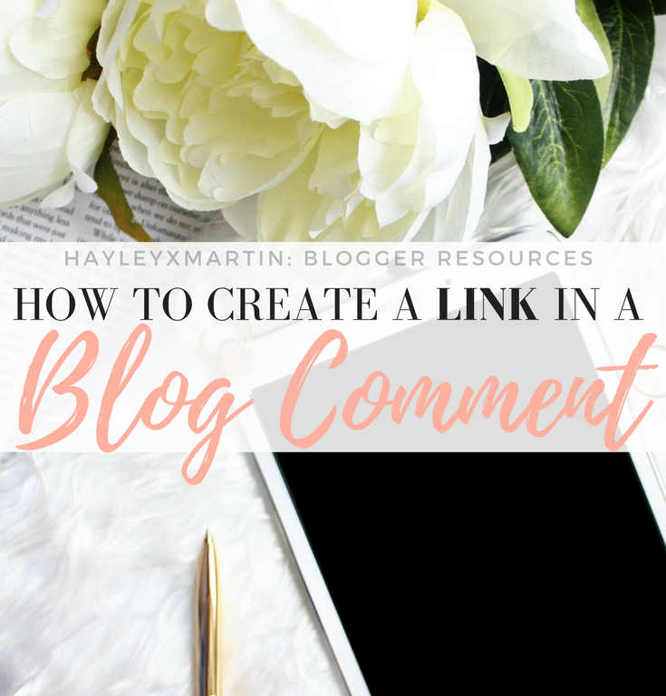 HAYLEYXMARTIN- BLOGGER RESOURCES - HOW TO CREATE A LINK IN A BLOG COMMENT