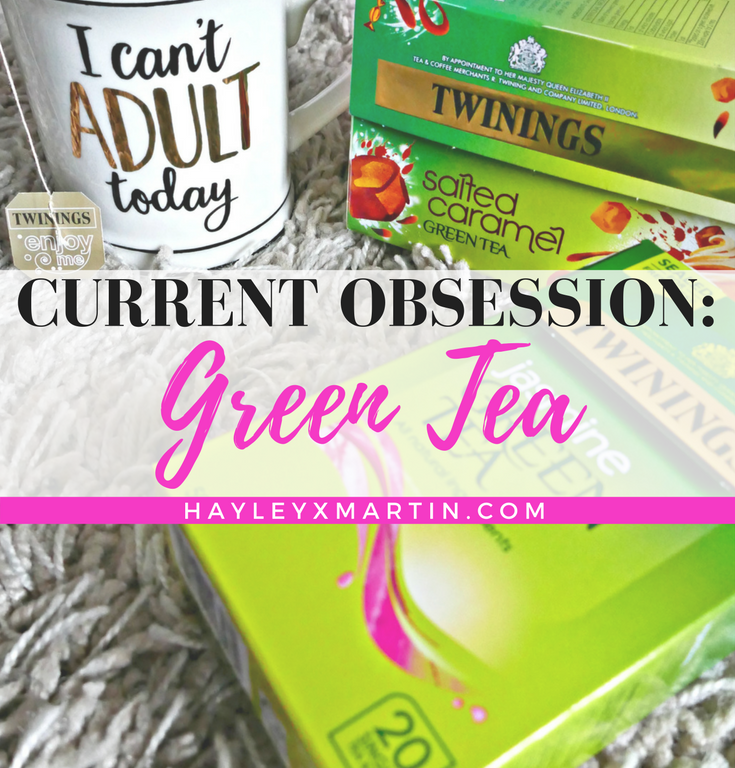 CURRENT OBSESSION- GREEN TEA - HAYLEYXMARTIN