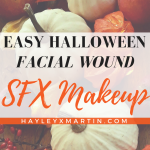 EASY HALLOWEEN FACIAL WOUND SFX MAKEUP