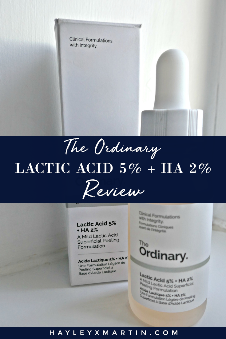 THE ORDINARY_ REVIEW _ LACTIC ACID skincare - HAYLEYXMARTIN
