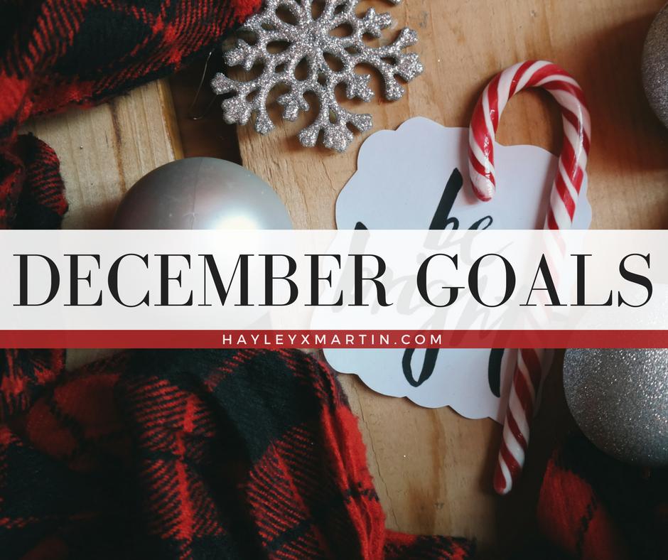 DECEMBER GOALS | HAYLEYXMARTIN.COM
