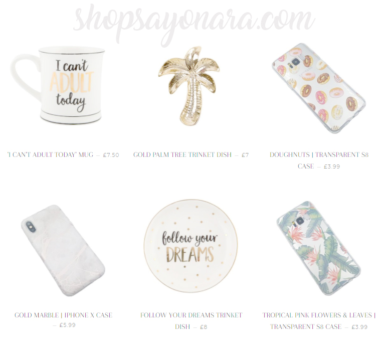 shopsayonara.com - faves