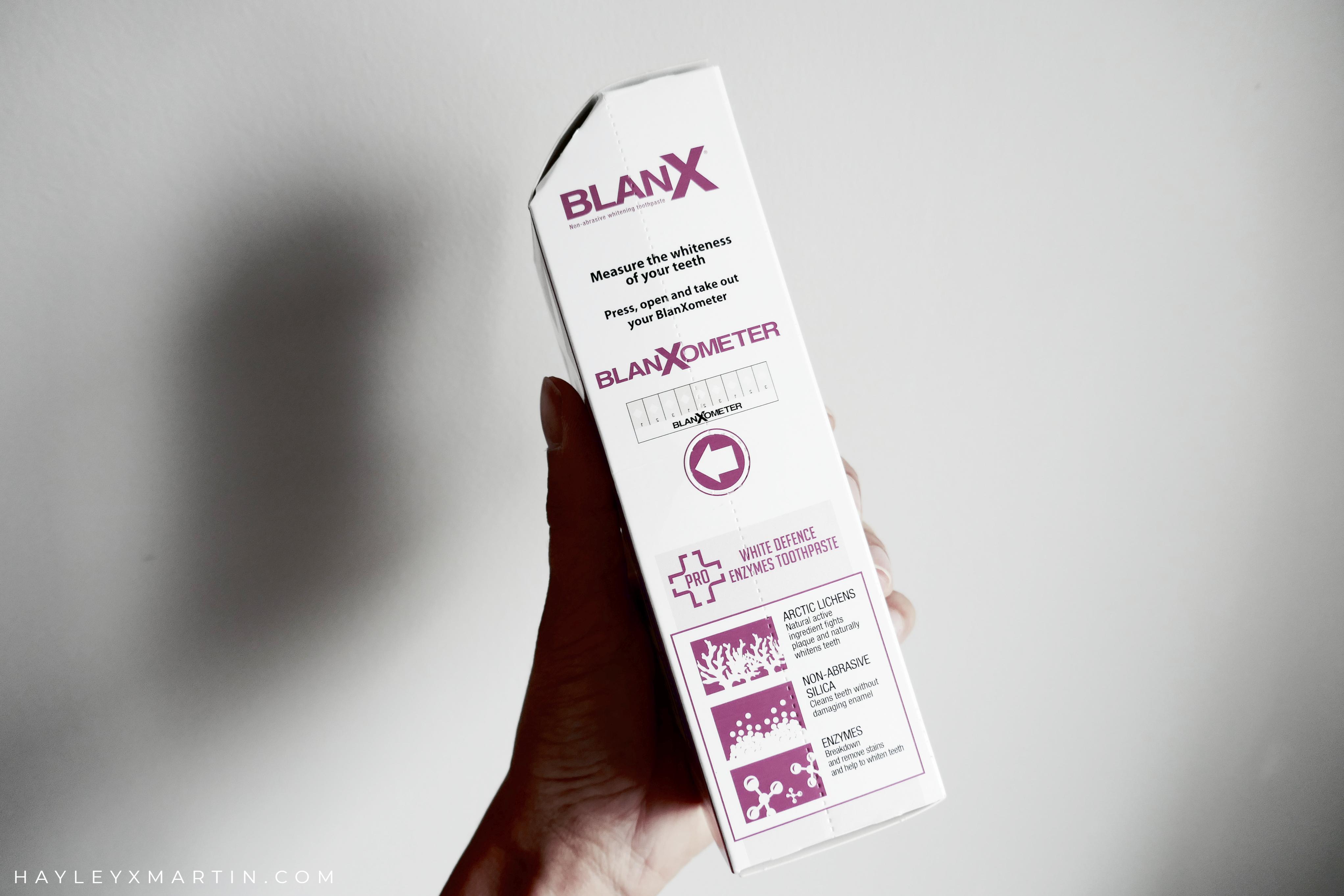 HAYLEYXMARTIN _ BLANX PRO GLOSSY WHITE REVIEW BLANXOMETER