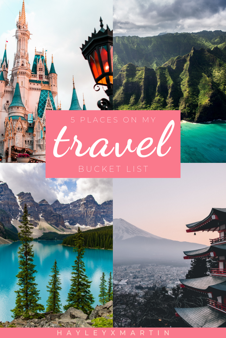 5 PLACES ON MY TRAVEL BUCKET LIST | HAYLEYXMARTIN | TRAVEL | DREAM | VACATION | HOLIDAY | TRAVEL BLOGGER