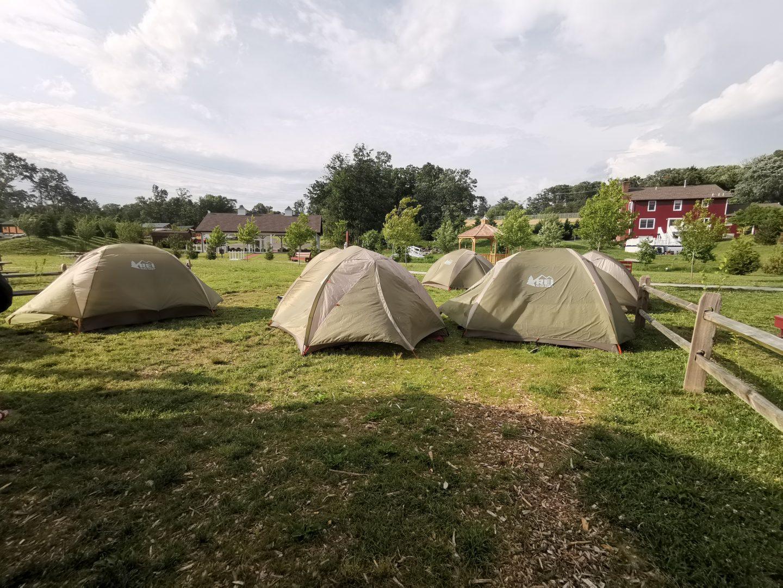 HAYLEYXMARTIN | TREK AMERICA | GRAND TREK | DAY 1 - PHILADELPHIA - CHERRY HILL CAMPGROUND