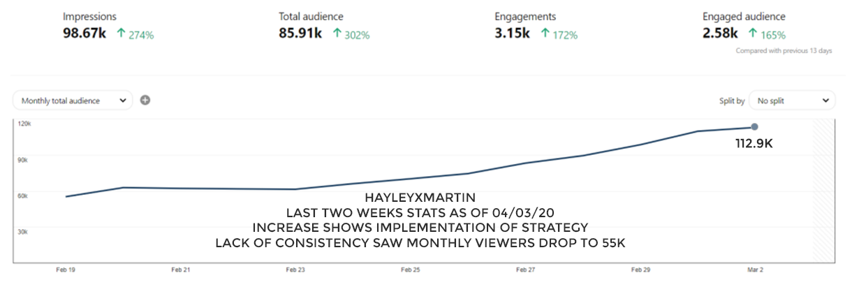 HAYLEYXMARTIN - PINTEREST STATS AS OF 4TH MARCH 2020