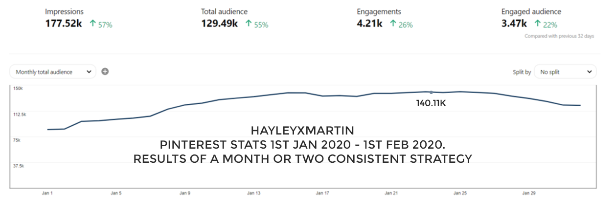 HAYLEYXMARTIN - PINTEREST STATS JAN 2020 - FEB 2020