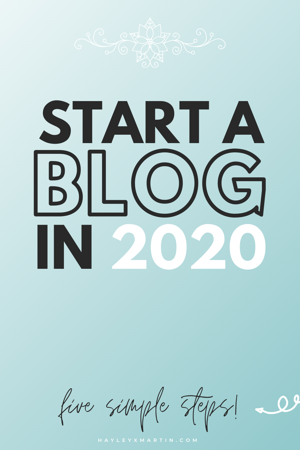 Start a blog in 2020 - five simple steps - hayleyxmartin.com