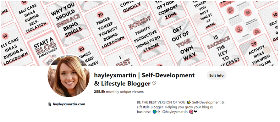hayleyxmartin | grow your pinterest monthly viewers | APRIL 2020
