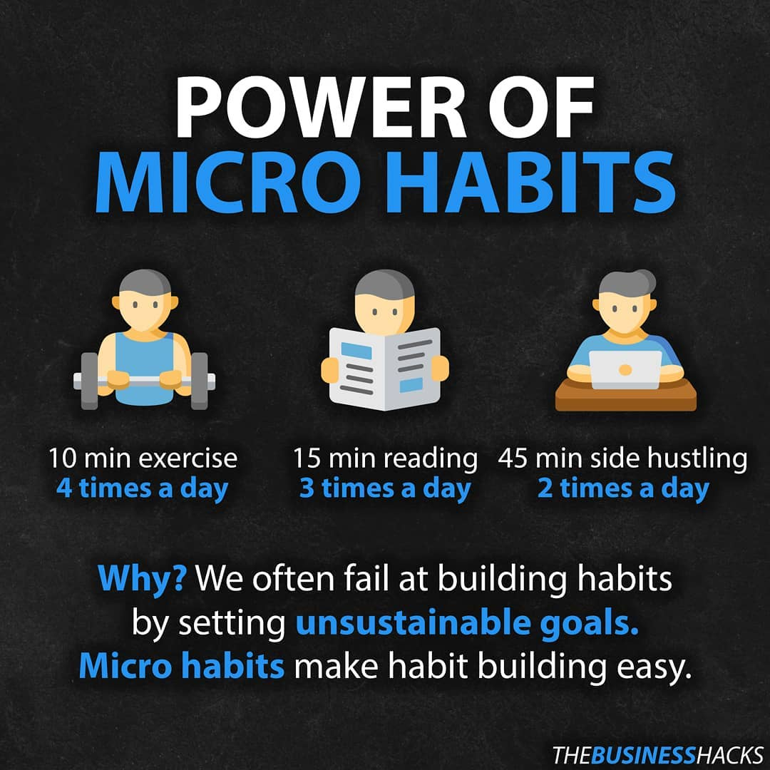 THEBUSINESSHACKS IG | POWER OF MICRO HABITS